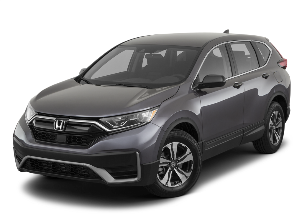 A gray 2020 Honda CR-V against a white background.